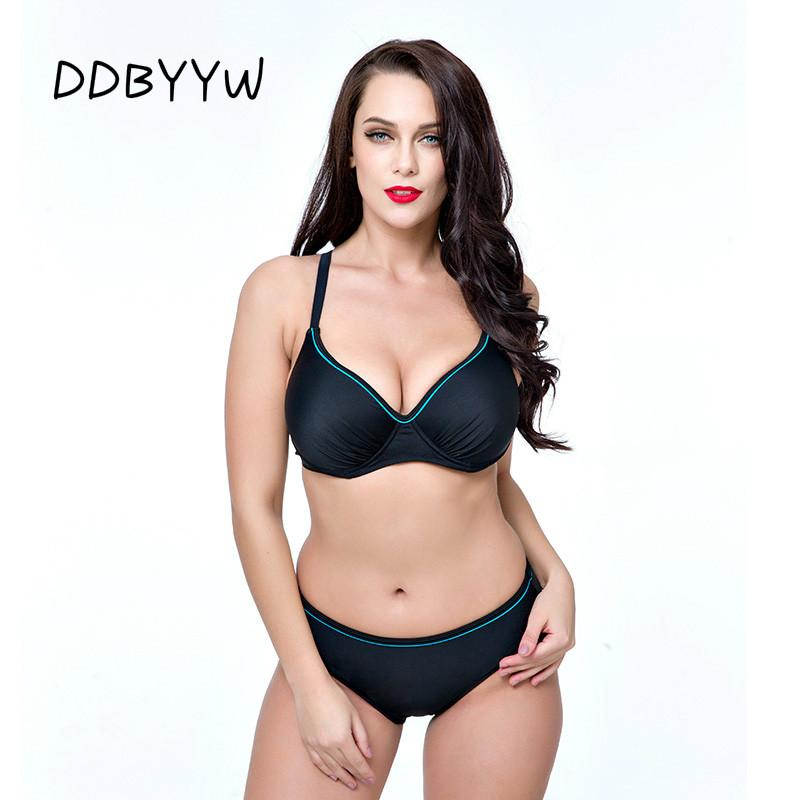 0060d9bb02 2019 2017 Women Swimwear Sexy Fat Wear Plus Size Bikini Set Bathing Suit  Push Up Biquini Women Large Cup Bikini From Fashion ddb