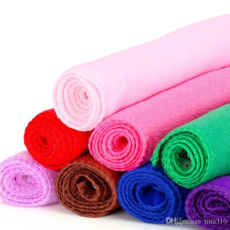 High quality 100pcs/ lot Microfiber Water Ultra-Absorptive Bath Dry Towel For Dog Pet Mix Colors IC796