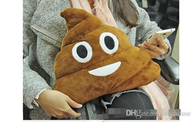 Presente Ordem mínima almofada decorativa Emoji Pillow presente bonito Merdas Poop Bicho de Pelúcia Boneca engraçada do Natal Plush Bolster Pillows