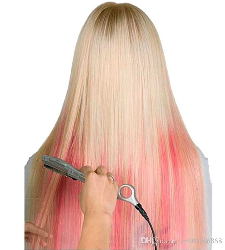 머리카락 컷 / 인간의 머리카락 연장 레미 헤어 미용실 사용을위한 뜨거운 진동 미끈 미끈한 초음파