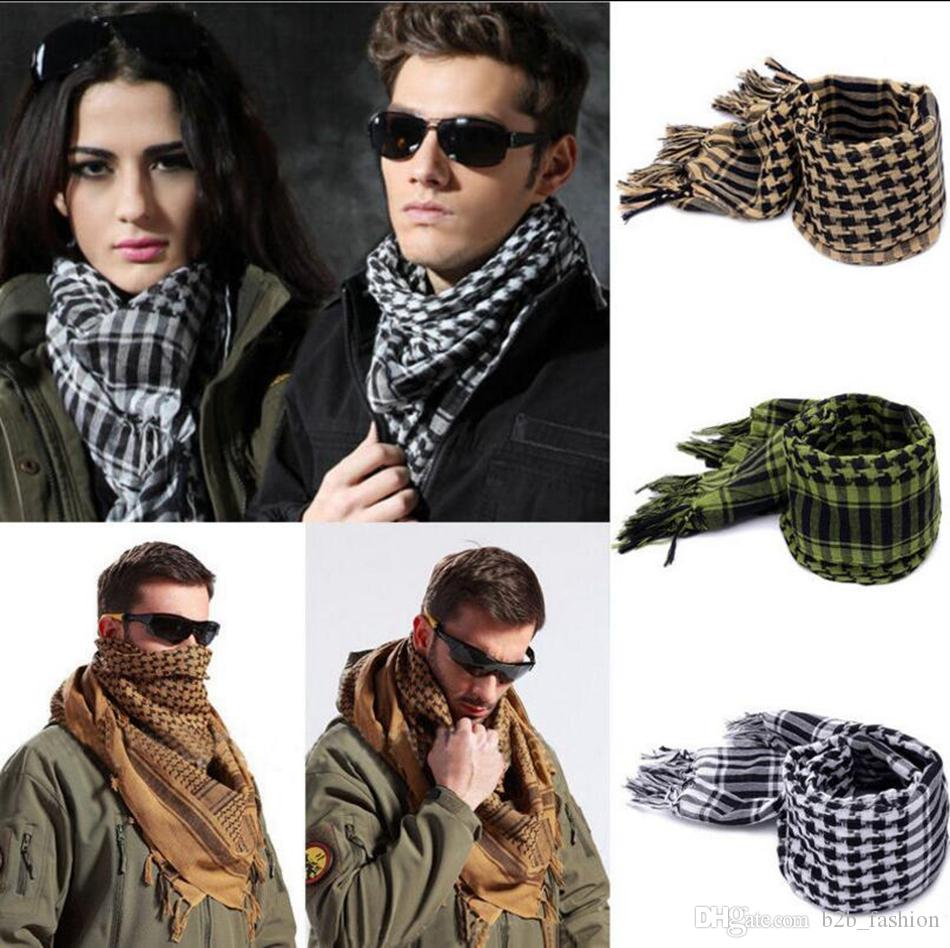 e8d9f043390bb Arab Shemagh Keffiyeh Palestine Scarf 110 110cm Men Shawl Wrap Stole  Scarves Cotton Military Scarf OOA2790 Designer Scarves Winter Scarves From  B2b fashion