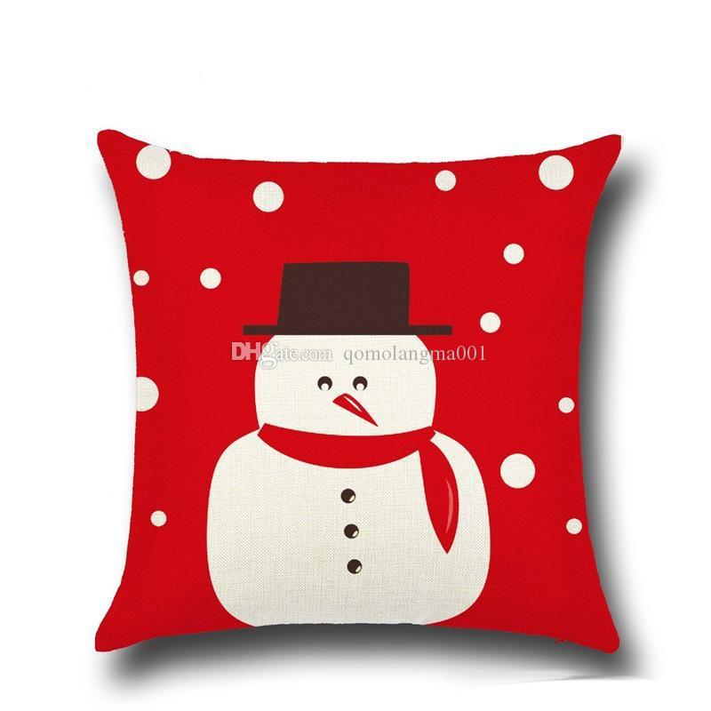 Alta Qulity Natal capas de almofadas para o sofá confortável Papai Noel impresso fronhas de algodão fronha decorativa