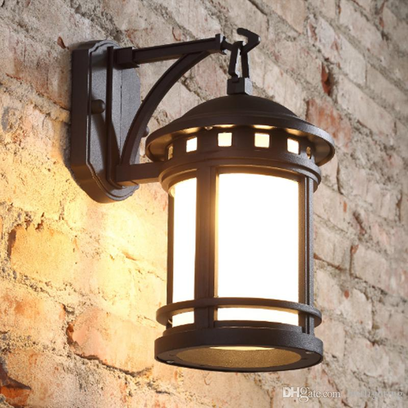 2018 american style retro outdoor lamp antique european style