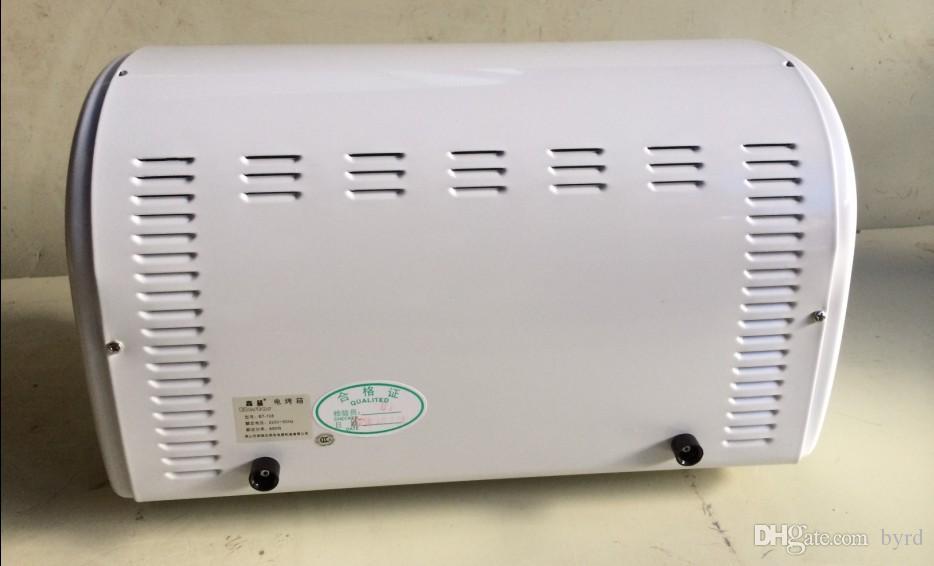 8L de mini portátiles horno eléctrico de tres métodos de calentamiento de 15 minutos de temporizador tubos 220V 650W dos calentamiento controlado por separado 002