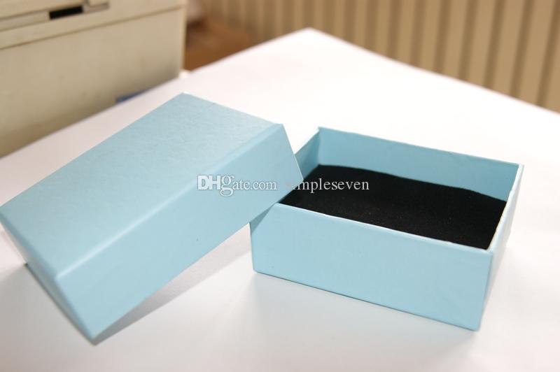 [بسيط سبعة] شحن مجاني المتأنق الأزرق صندوق مجوهرات / سوار عرض / بروش حالة / قلادة قلادة مربع / حزمة هدية للمرأة والمجوهرات
