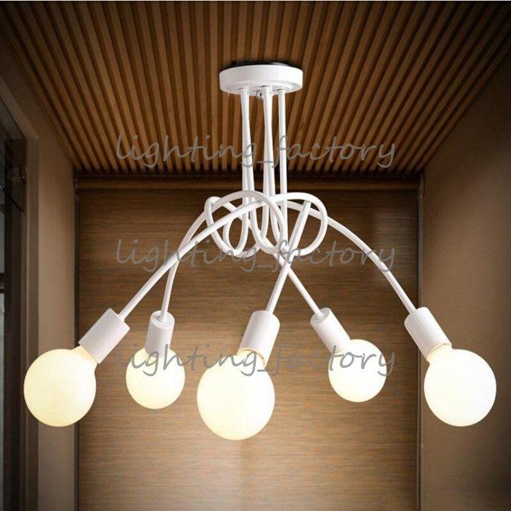 Neues Design Decke Kronleuchter Armaturen koreanische Kunst minimalistischen Wohnzimmer Schlafzimmer Nordic Light Ceiling 3arms 5arms LED morden Pendelleuchte