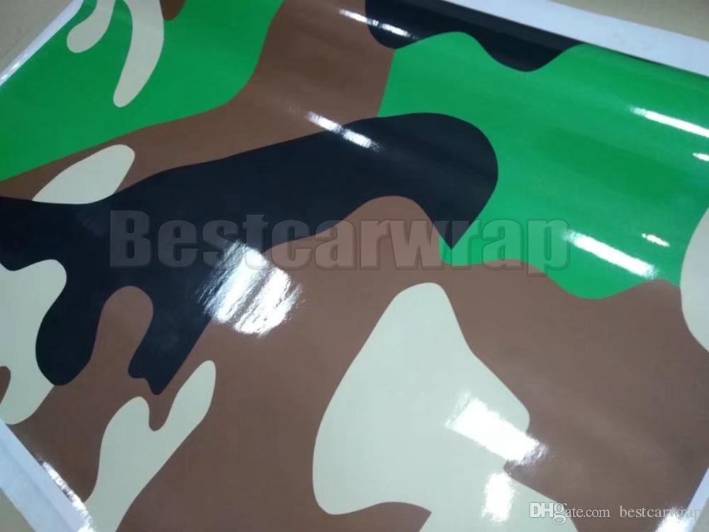 Grande Militar Camuflagem Vinil Para Carro Filme Wrap Com bolha de ar livre filme CAMO para Caminhão / barco gráficos Folha de 1.52X30 M 5x98ft