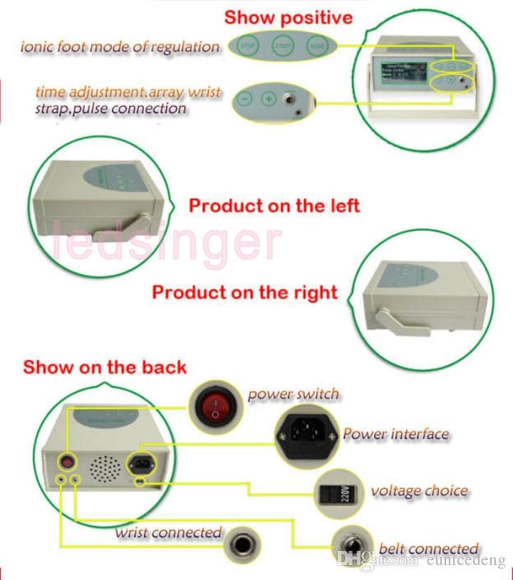 2016 hot ion detox máquina de spa de desintoxicação infravermelho bamboom instrumento de purificação de íons de cintura do carvão vegetal desintoxicante forma o corpo de cuidados de saúde