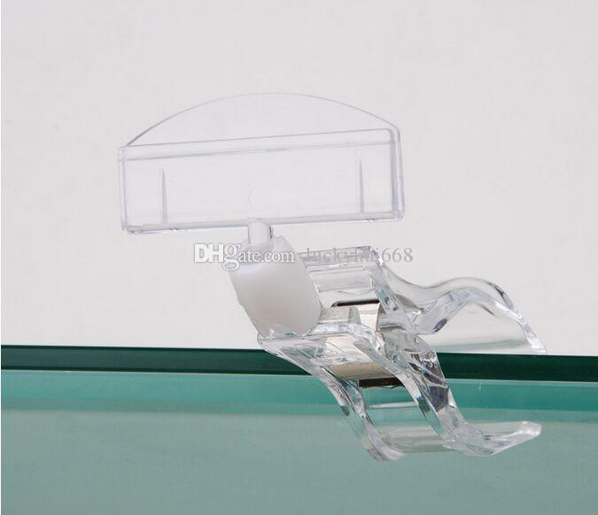 Clear POP Plastic Sign Paper Card Display Price Label Tag Promotion Clips Holders In Supermarket Retails