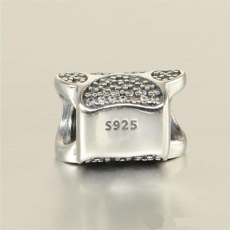 Perline di fascino zampa S925 Sterling Silver adatti braccialetti in stile originale Footprint 791714CZ H8