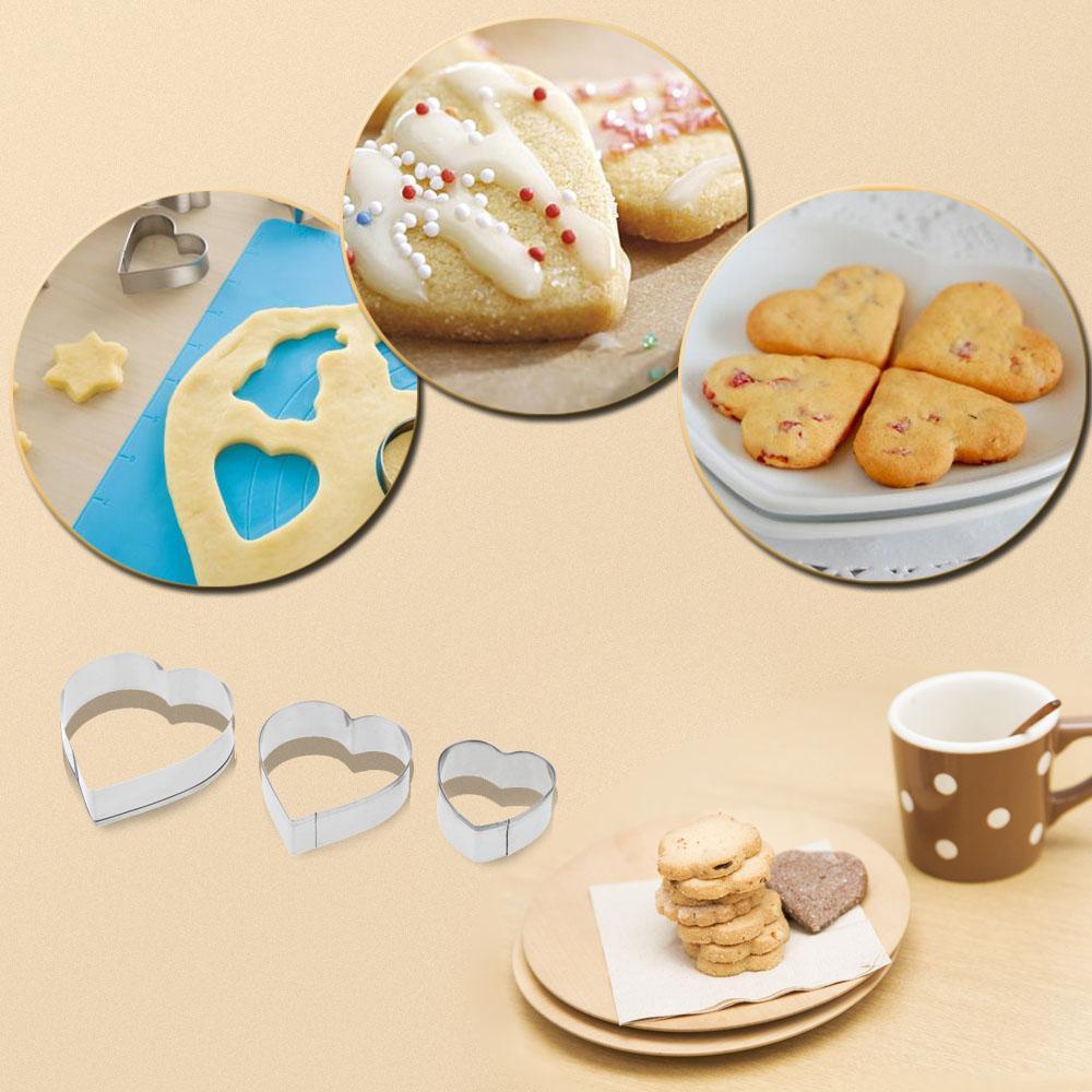 Bonito Bolo De Aço Inoxidável Biscoito Fondant Biscuit Molde de Doces Cortadores De Molde Do Coração DIY Ferramentas de Decoração Kit De Cozimento