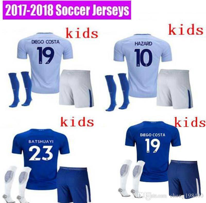 on sale a52c4 f7db2 chelsea 19 diego costa away youth kids child short sleeves ...