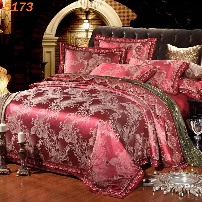 Merveilleux Wholesale Luxury Wine Red Silk Bedding Set Silk Beding Set Tribute Silk  Duvet Cover Pillowcases Cotton Bed Sheet New Designer B5173 Duvet Comforter  Sets ...