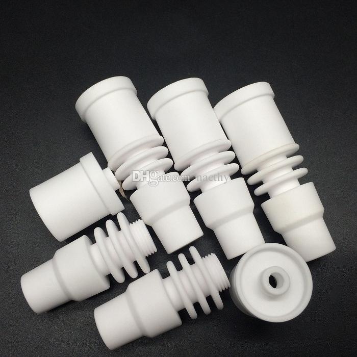 14mm und 18mm Männlich Keramik Nagel 2 in 1 Domeless Keramik Nägel Fit 20mm Elektronische Nagelspule für Glas Wasserbongs