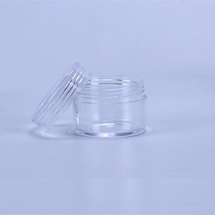 15ml Kunststoff kosmetische Container Glas mit Schraubdeckel 15Gram Mini leeren Topf für Lidschatten Nägel Pulver Perlen Schmuck Creme Wachs Flasche