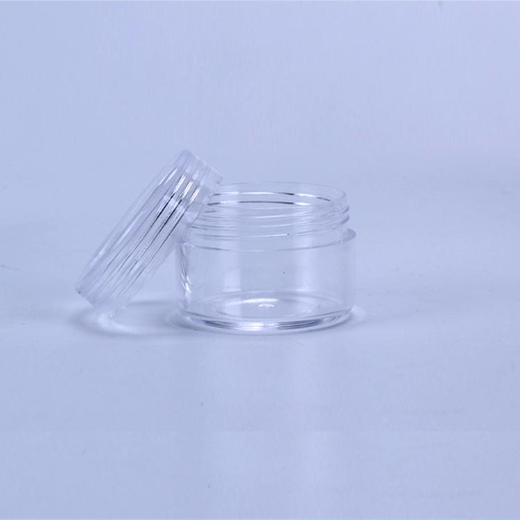 15ML Plastic Cosmetic Container Jar With Screwed Lid 15Gram Mini Empty Pot For Eyeshadow Nails Powder Beads Jewelry Cream Wax Bottle