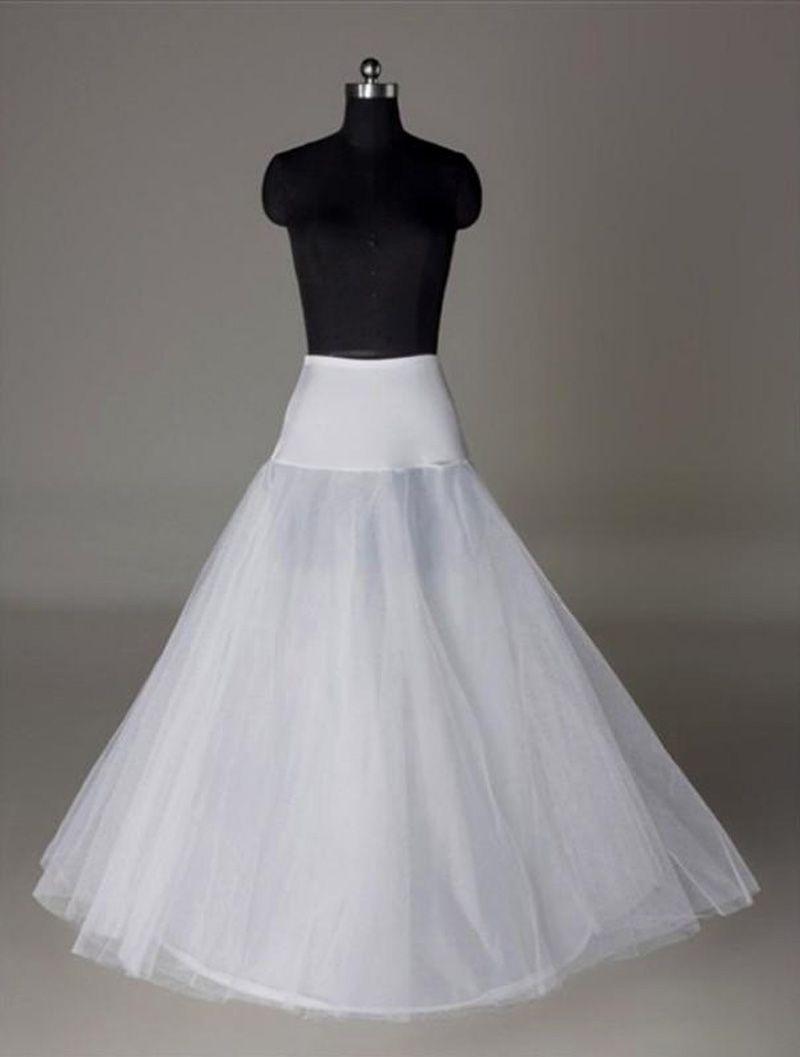 A Line Wedding Dress Crinoline