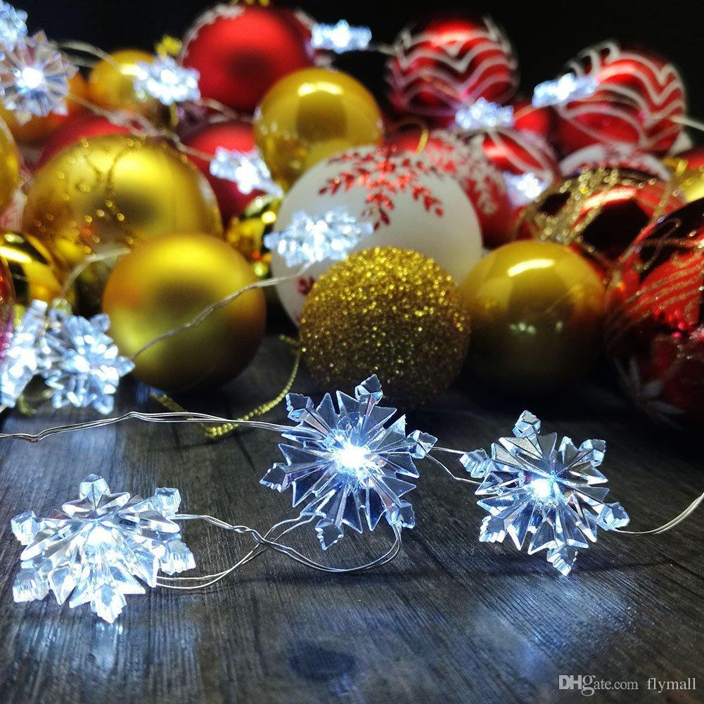 Snowflake String Lights 2M 3M 5M 10M 100LED Christmas LED Fairy String Light for Garden Wedding Party Christmas Tree Lights