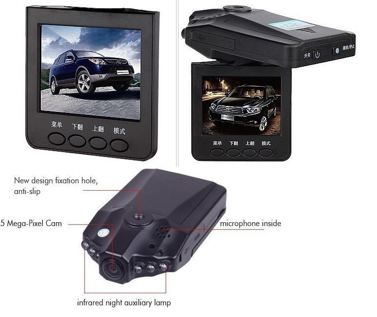 2.5 inch LCD 6LED night vision 120 degree HD car DVR HD198 Car DVR auto vehicle camera digital video recorder