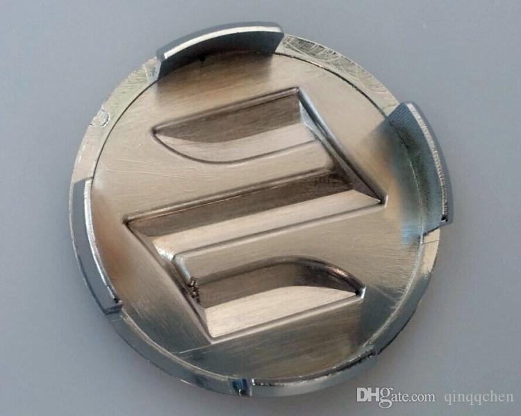 4 pçs / lote Car Styling 54mm ABS Suzuki Car Badge Roda Centro Tampão Do Cubo Da Roda Emblema Do Emblema Cobre para SWIFT Esporte SX4 Alto