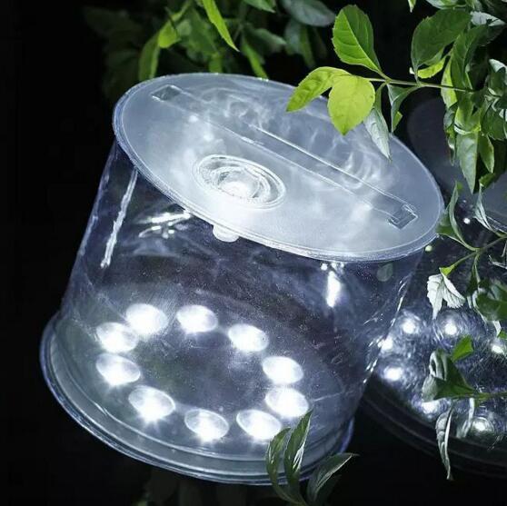 Linterna solar inflable 10 LED linterna impermeable IPX6 Plegable Picnic portátil acampar al aire libre tienda de campaña de pesca al por mayor