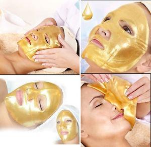 페이셜 마스크 24K 골드 바이오 콜라겐 크리스탈 골드 콜라겐 얼굴 마스크 여성용 보습 껍질 피부 관리 여성 Bea464
