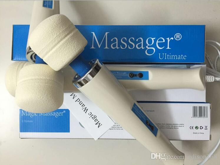 Hot varinha mágica Vibradores AV Powerful 30 velocidade recarregável completa Massager Corporais Feminino Masturbação Toy Adult Sex produtos HV280