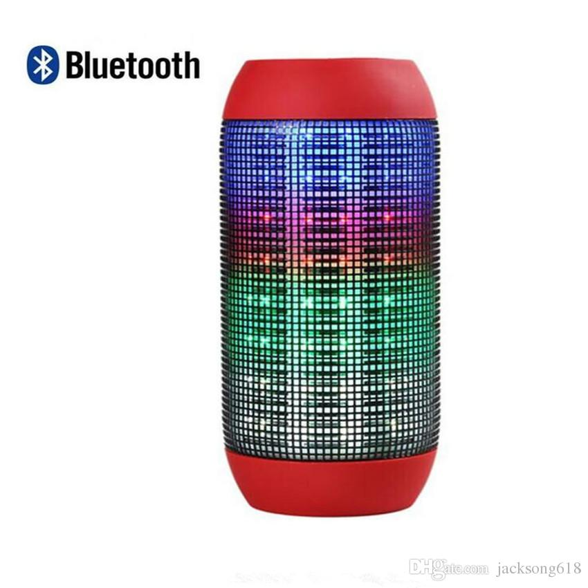 Portable Wireless Bluetooth Speaker 360 LED Lights Speakers Support U-disk TF card Boombox Speaker Outdoor Amplifier For Androide Phone