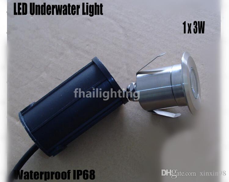 Bester Verkauf 3W LED wasserdicht IP68 Erde im Freien Garten-Weg-Flut-Landschaft Licht LED U-Lampe 12V wärmt kaltes Weiß, Blau, Rot