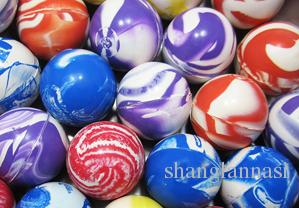 Color rubber 22mm solid bouncing ball children's toys bouncing ball twister egg doll Spider-man magic eye animal rubber ball
