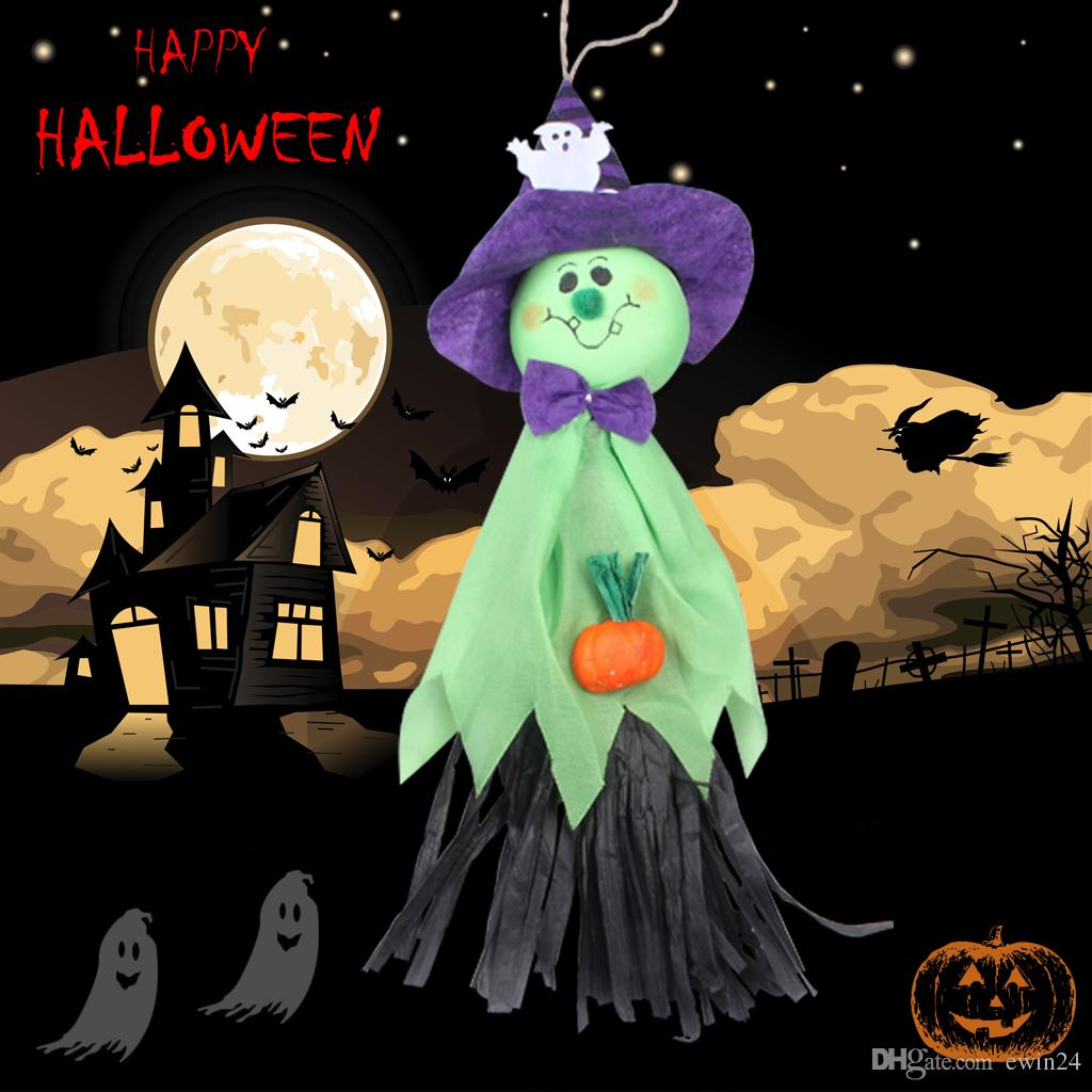 Halloween ghost doll Creepy Prop Decor Scary Halloween Party House nightclub bar Decoration Props Easter Activated Ghosts festive supplies