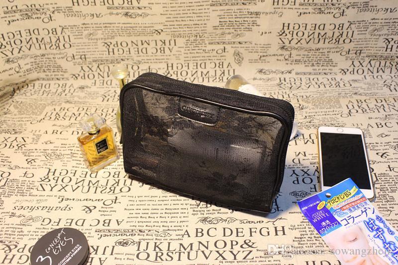 2017 marke designer frauen echtes leder kosmetik schönheit taschen make-up schule schick tragbare reise kupplung kulturwaren wasserdichte handtasche