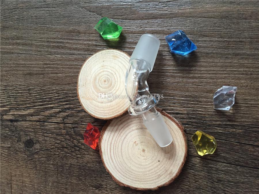 Großhandel 14mm / 18mm Stecker auf 14mm / 18mm Stecker Glas Wasser Rohrbefestigung Adapter gebogene Nail Dome Adapter Joint