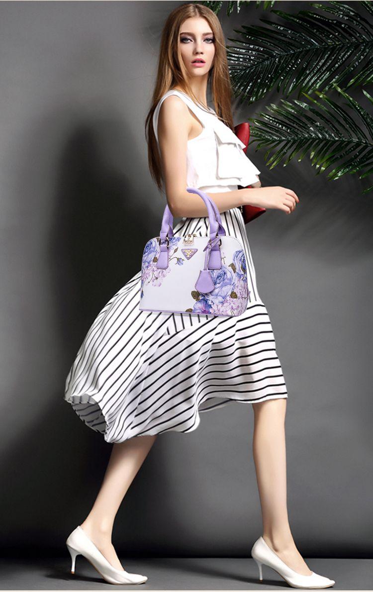 2016 Art und Weise Blumendruck Sommer neue kleine frische Pflanze Dame Tasche Mädchen Frauen einfache Handtasche Schultertasche Messenger Bag Handtasche Blume