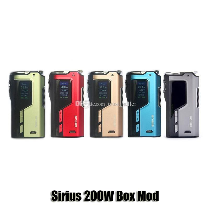 100% Original Lost Vape Sirius 200W TC Box Mod Lostvape VW 18650 Battery  Mod For 510 Thread Atomizer