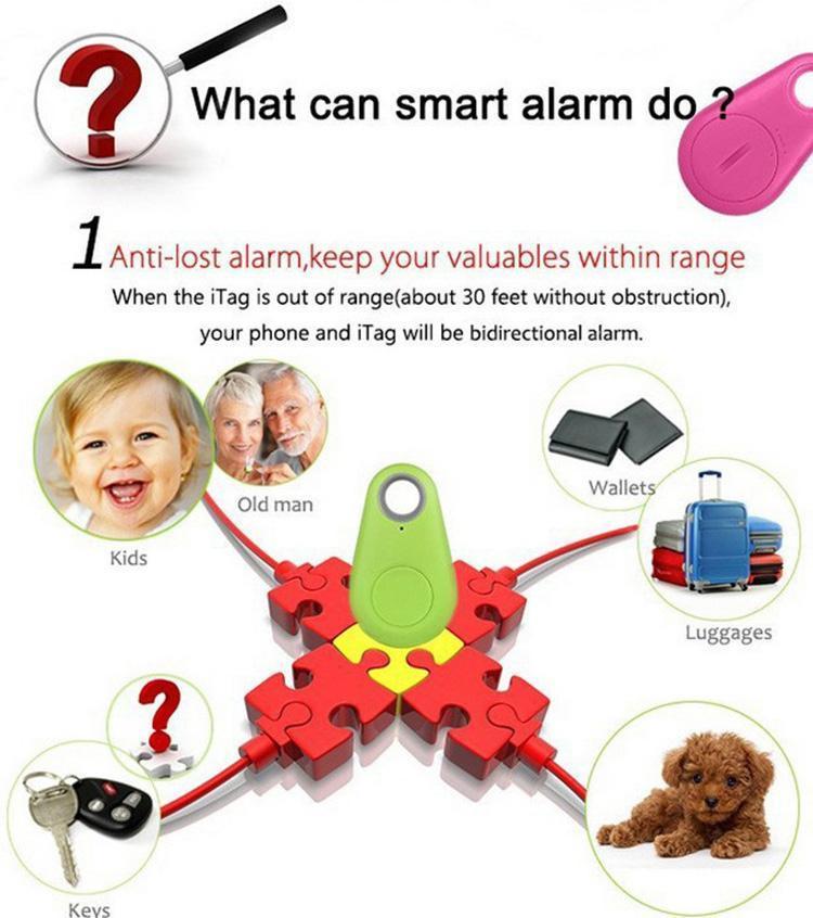 ITAG 스마트 키 파인더 블루투스 키 파인더 트레이서 로케이터 태그 Anti Lost Alarm 자식 지갑 AOS Android 용 애완 동물 개 트래커 셀프