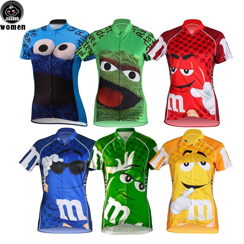 Multi Types Women Customized NEW Cartoon Funny Bike Mtb Road RACE Team  Funny Pro Cycling Jersey Shirts   Tops Clothing Breathing Air JIASHUO T  Shirts Uk ... 34c48b3a8