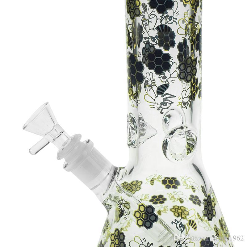 Цветы стекла буровой установки Бонг 10.8 дюймов водопровод с 18 мм женский совместное Beaker ресайклер толстые Бесплатная доставка