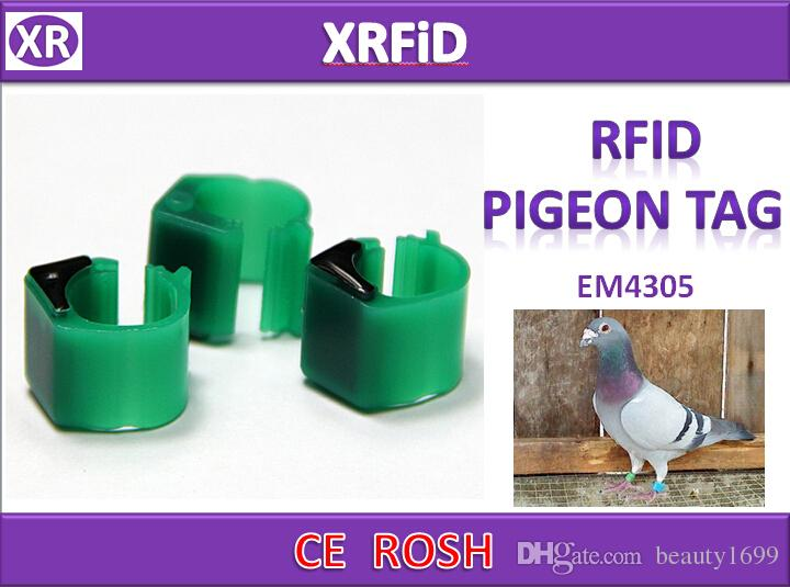 EM4305 rfid pigeon ring tag Dia 10mm 134.2khz ABS pigeon tag blank format 500pcs/lot Free Ship