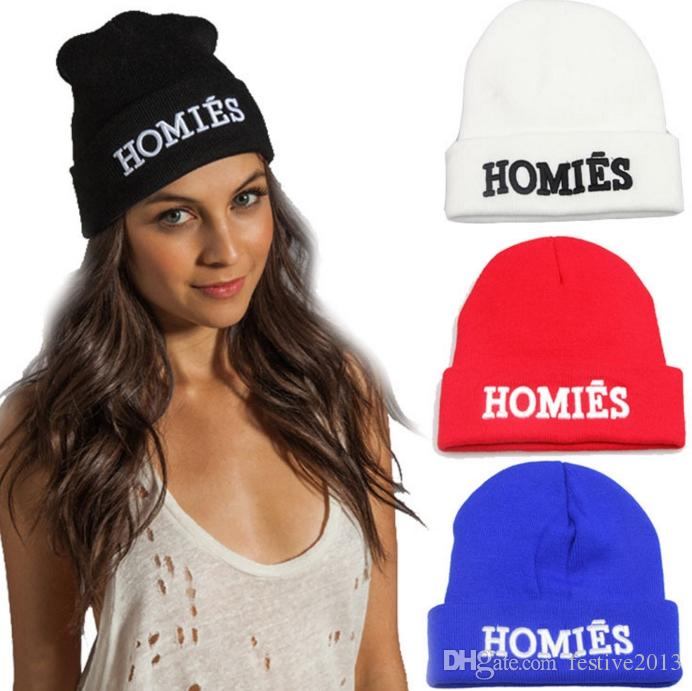 2018 Best Quality Men Homies Beanie Black Color Fashion Knit Beanies  Snapback Hats Caps Streetwear Hat Cap Hats And Caps Beany From Festive2013 4ad30c0bd1f