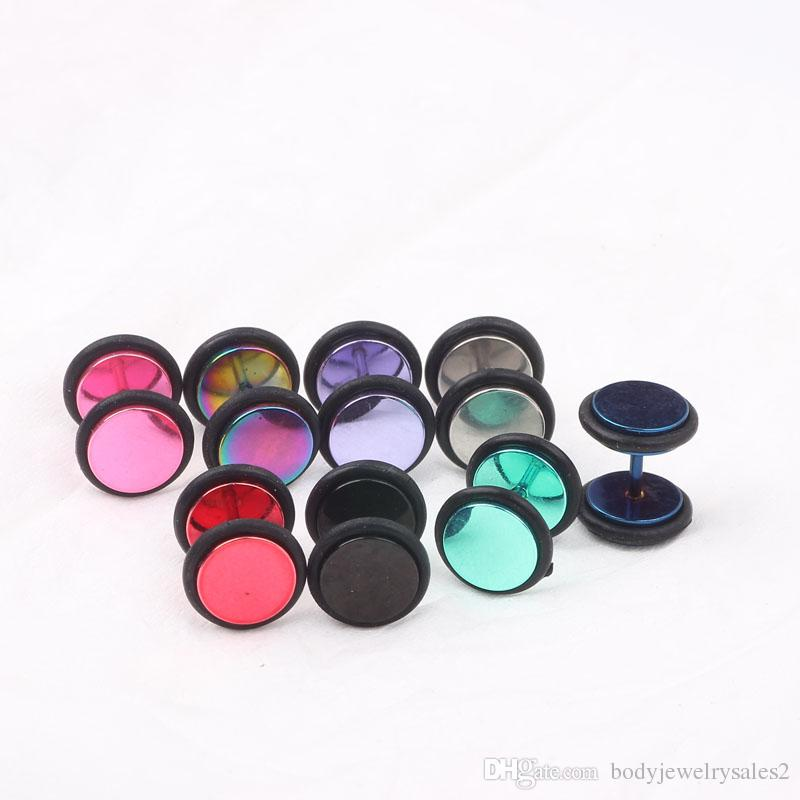 Ear plug tunnel P40 mix stainess steel piercing ear expander
