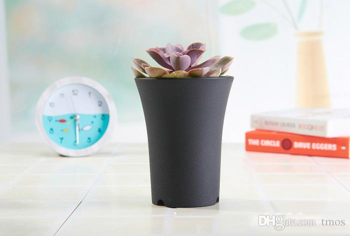 4 Zoll-Durchmesser 5,1 Zoll Höhe Dull polnischen Kunststoff Töpfe für Pflanzen, Stecklinge Pflanzgut, 10er-Pack Durable Wohn Garten Pflanzer