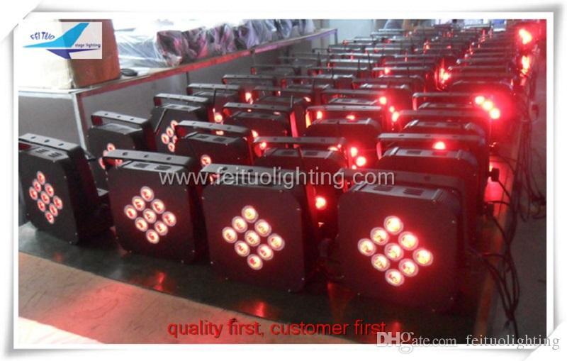 24 adet / grup ücretsiz kargo sahne aydınlatma kablosuz akülü led düz par 9x15 w rgbwa 5in1 düz led par can