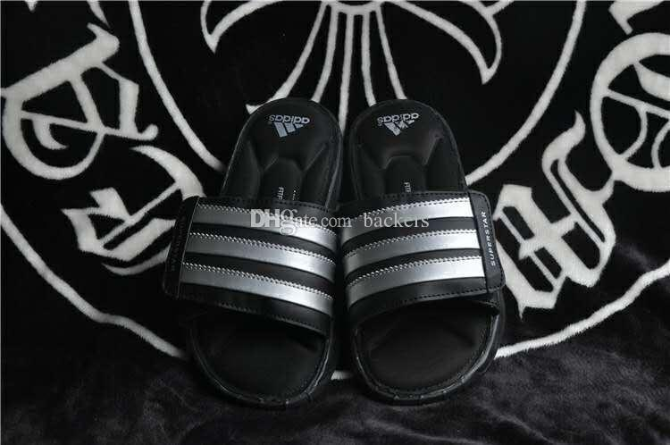97205f6ec8d 2016 Original Adidas Slippers Flip Flops Superstar Slipper For Men Summer  Fashion Leather Man Cheap Black White Size 40 44 Womens Ankle Boots Ladies  ...