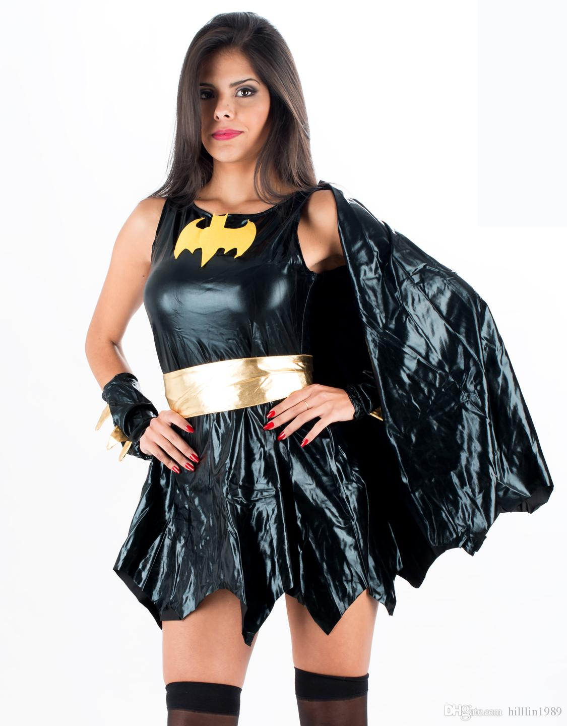 2018 classic america movie bat girl fancy dress halloween costume uniform temptation famous sexy superhero costumes w208802 from hilllin1989