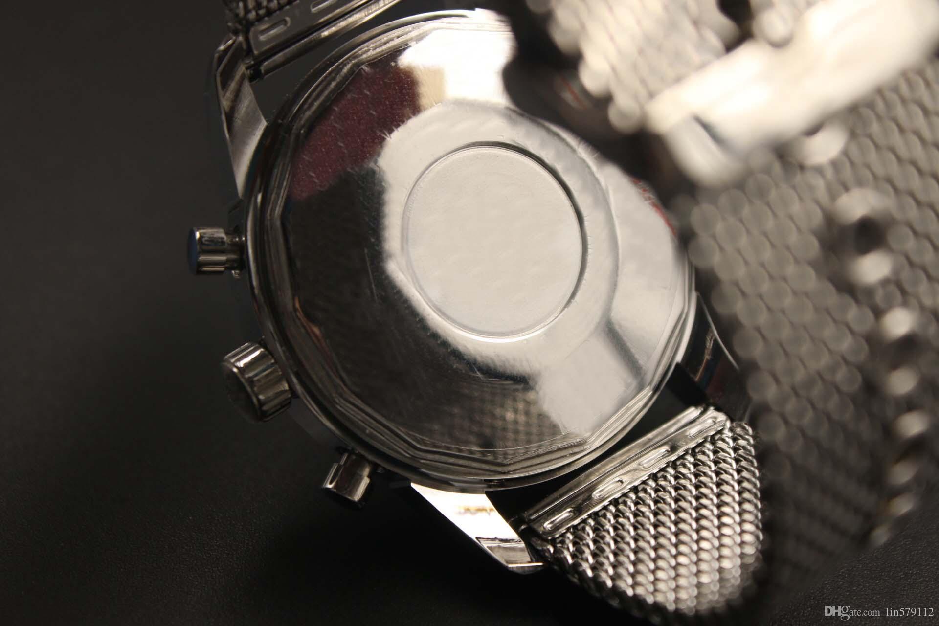 AAA nouveau homme Chronographe haute qualité 1884 TRANSOCEAN UNITIME professionnel en acier inoxydable de calibre de pilote sport Royal marque montres