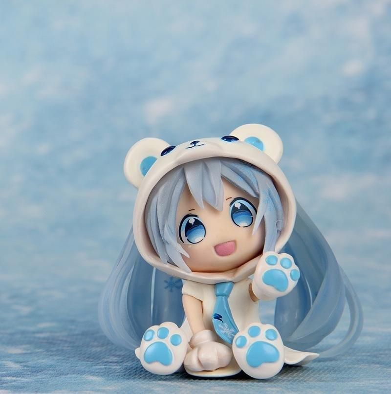 2018 Anime Chibi Hatsune Miku White Bear Ver Figure Toy Figma With Blue Color Good Gift For Comic And Animation Fans From Tans Boy 2362
