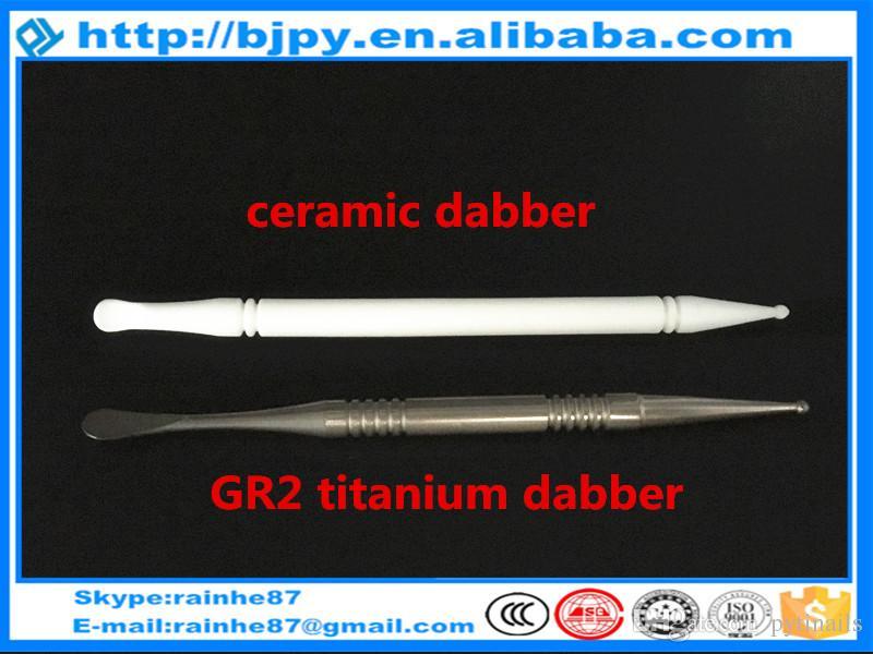 melhor preço de atacado GR2 pura dabber titânio e cerâmica dabber dab de alta qualidade ferramentas produtos de venda quente