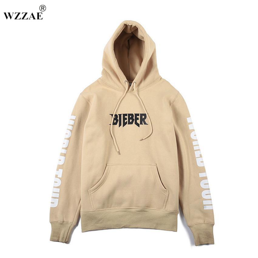 c9a5ca4c Wholesale- 2017 Justin Bieber Vetements Hoodie Oversized Khaki ...