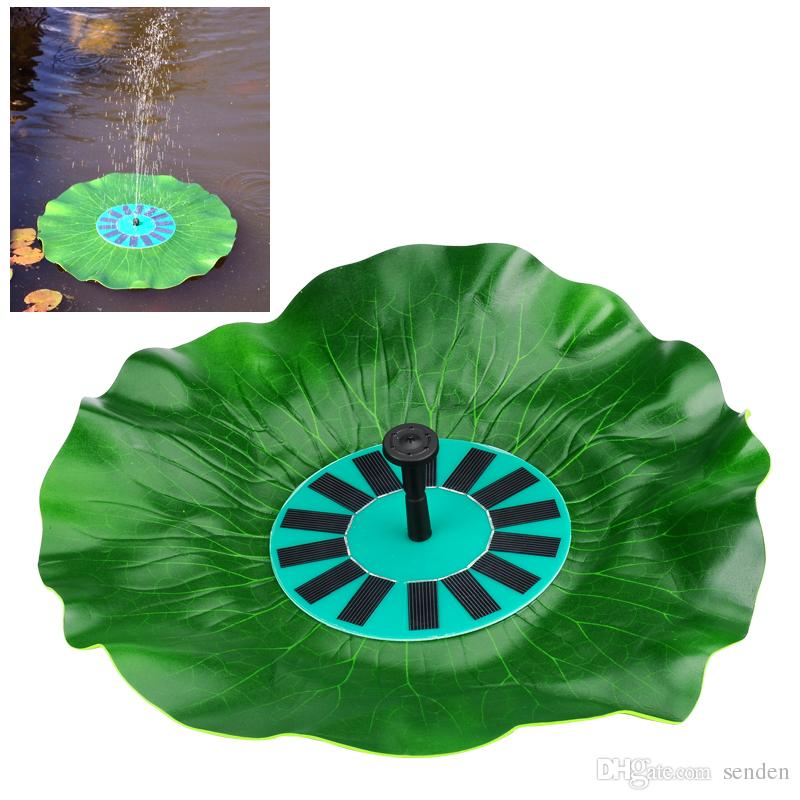 0 20 W Solar Garden Fountains Yes Universal Solar Floating Lotus Leaf  Fountain Pump Garden Pond Pool Water Solar Powered Panel Pump Outdoor Yard  Solar Water ...